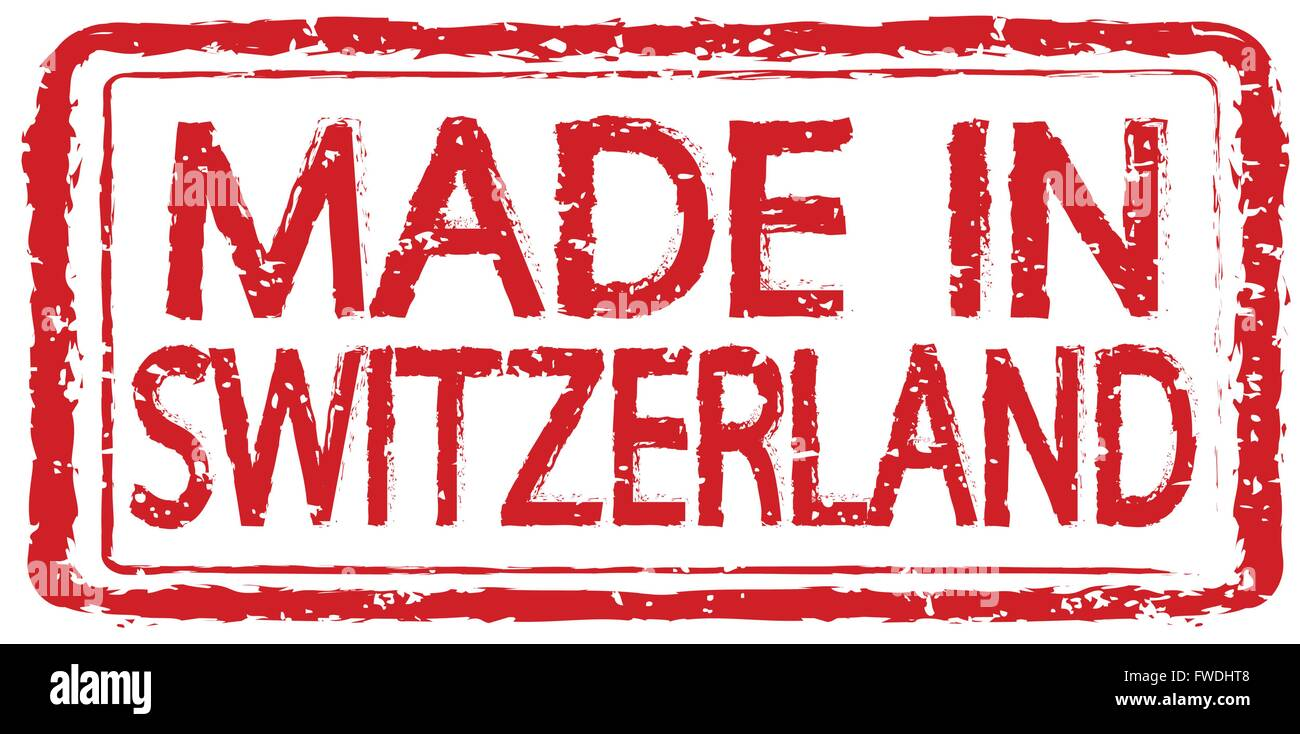 Made in SWITZERLAND stamp text Illustration - Stock Image