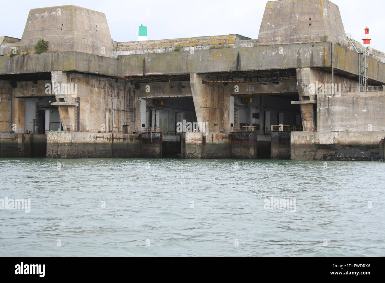 Keroman Submarine Base, at Lorient, France, built for ...