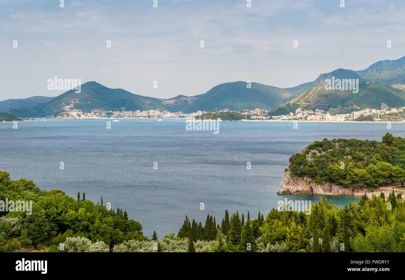 Montenegro Adriatic coast - Stock Image