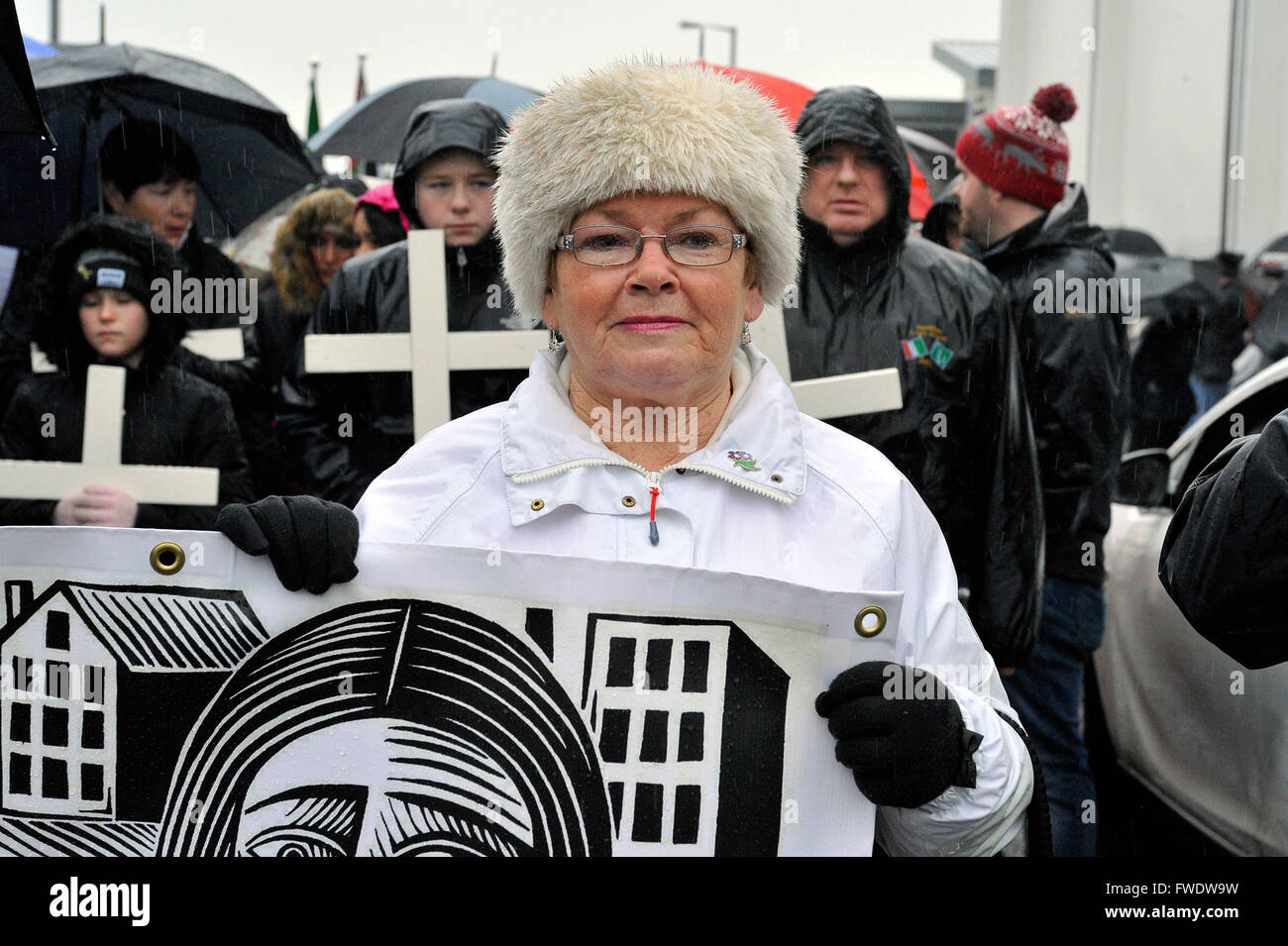 Bloody Sunday Relatives for Justice member Kate Nash whose brother William was killed by Paratroopers on Bloody - Stock Image