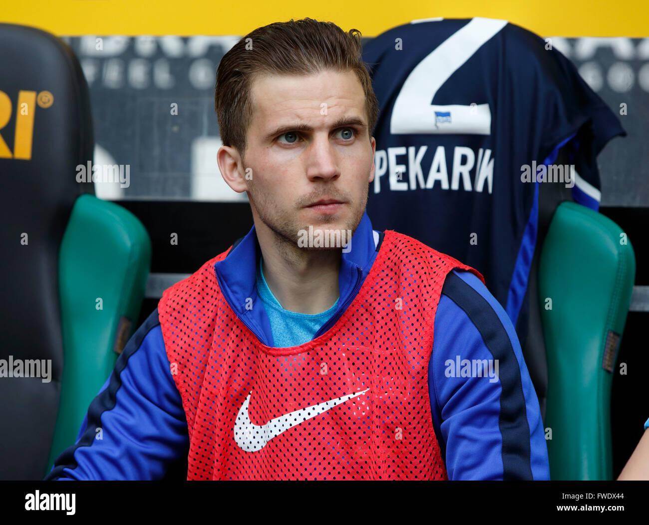 sports, football, Bundesliga, 2015/2016, Borussia Moenchengladbach versus Hertha BSC Berlin 5:0, Stadium Borussia - Stock Image