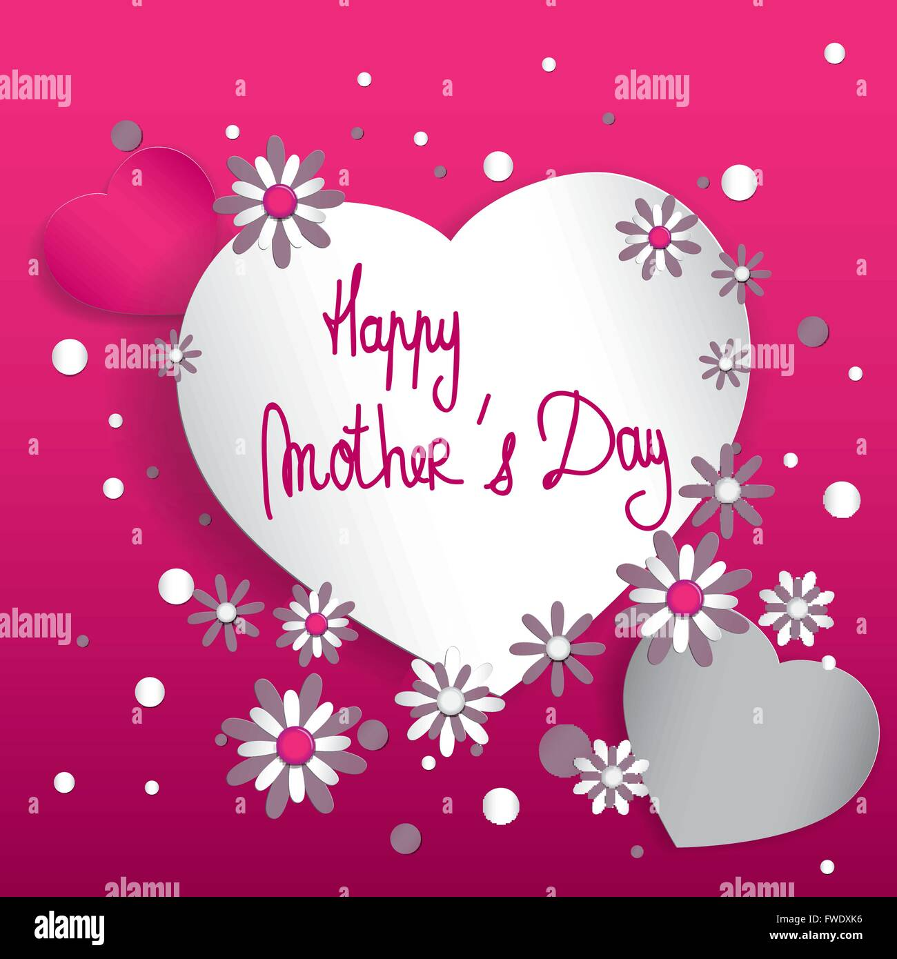 happy mother s day hearts composition full vector stock vector art
