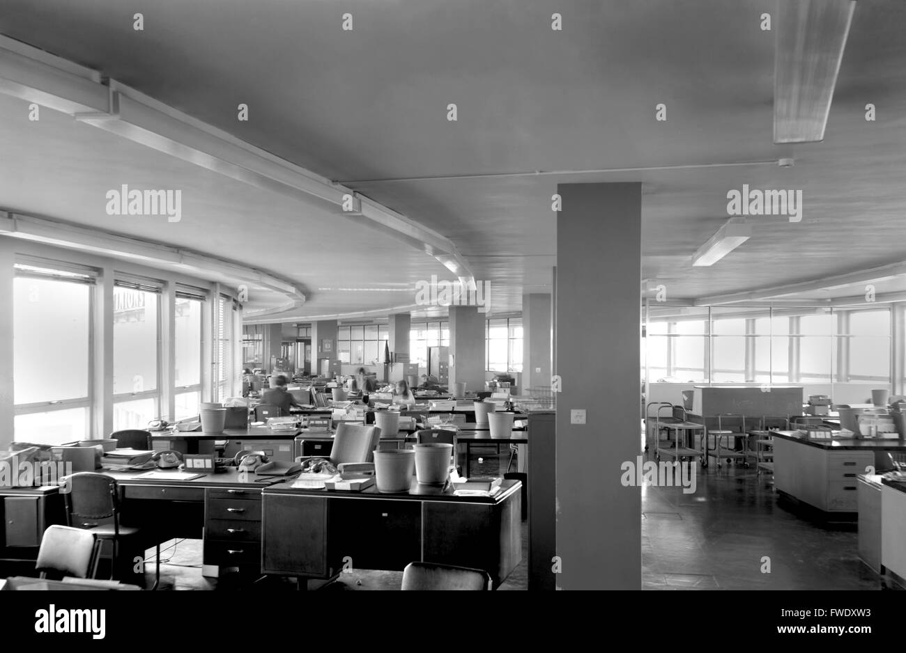 A Typical UK 1960s Open Plan Office