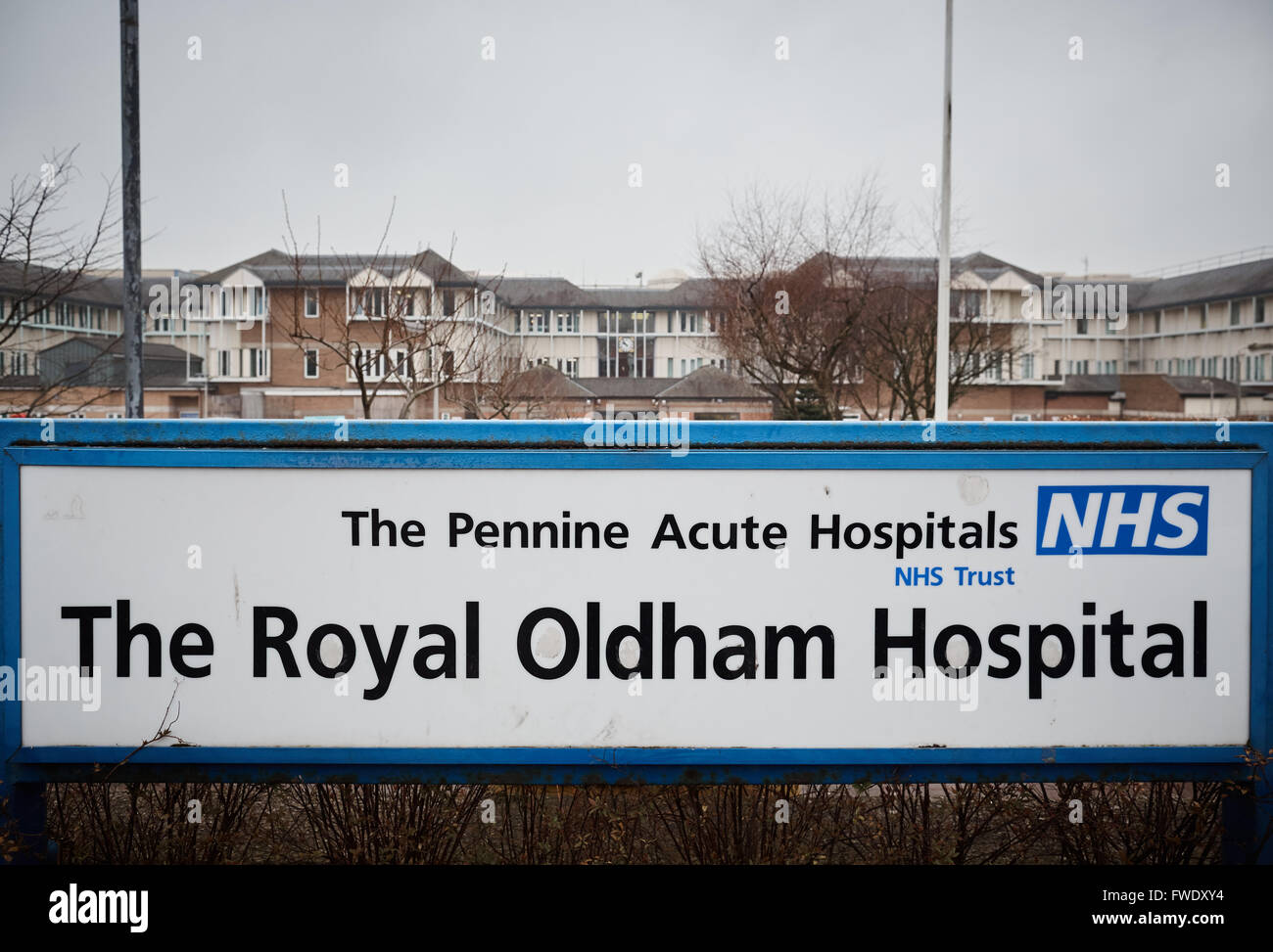 Oldham Royal Pennine Acute Hospitals NHS Trust    Formerly known as Oldham and District General Hospital Coldhurst - Stock Image