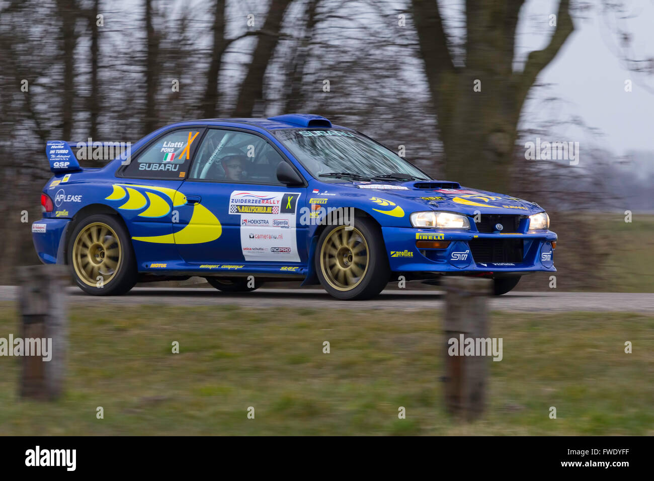 Subaru Rally Car Stock Photo: 101725219 - Alamy