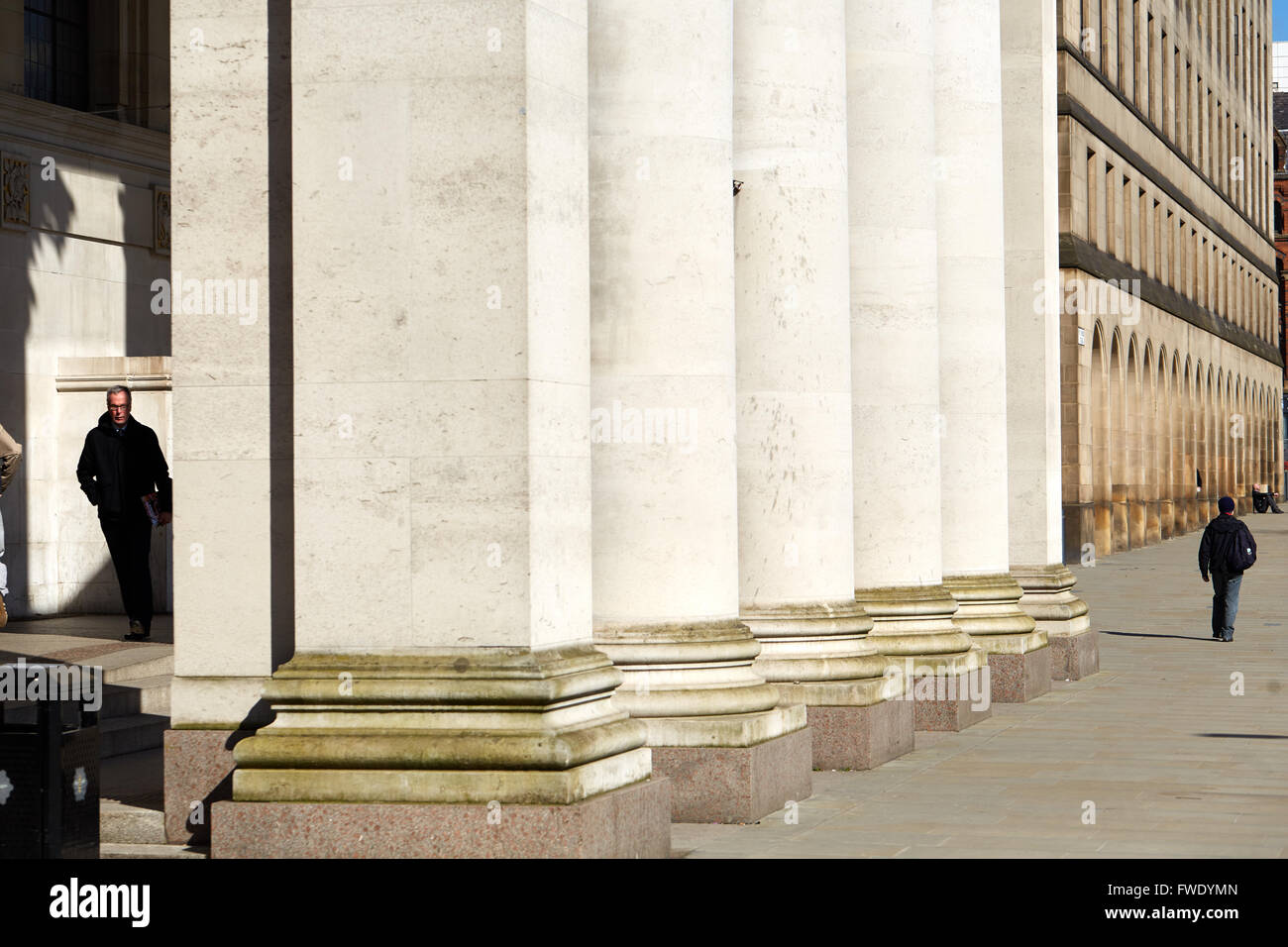 Manchester open space Town Hall extension  in the St Peters Square area pavement paved pedestrian pedestrianised Stock Photo