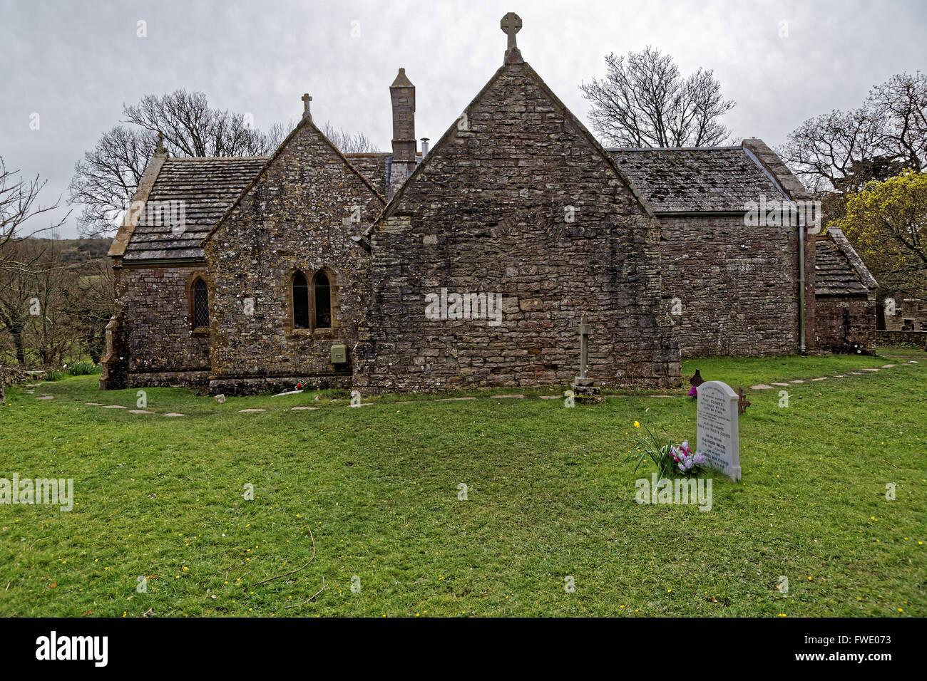 St Mary's church Tyneham village - Stock Image