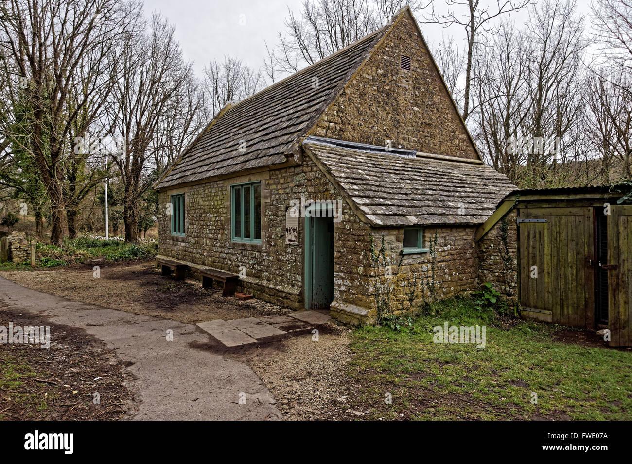 Schoolhouse in Tyneham village - Stock Image