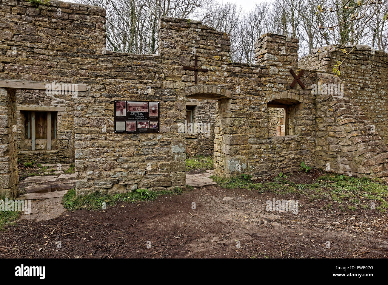 shepherd's house and post office in Tyneham. - Stock Image