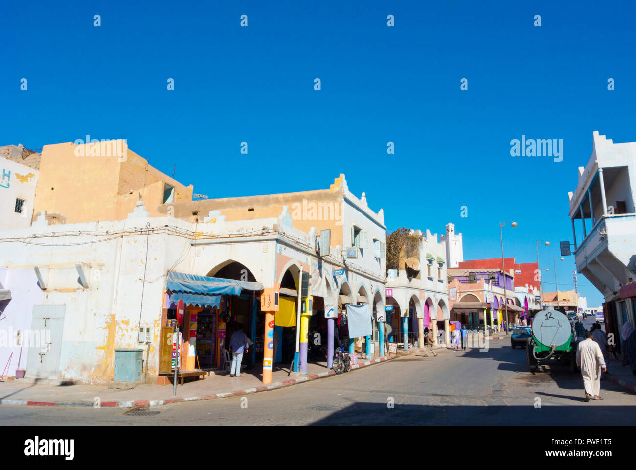 Boulevard Mohammed V, Tan Tan, southern Morocco, northern Africa - Stock Image