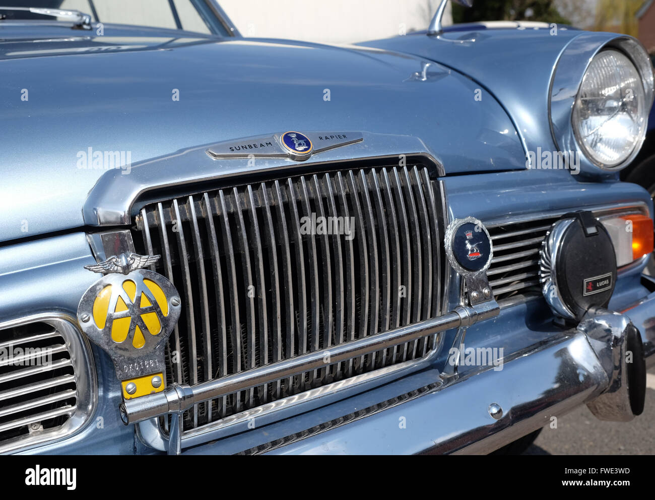 Sunbeam Rapier a British saloon car from the 1960s sixties - Stock Image