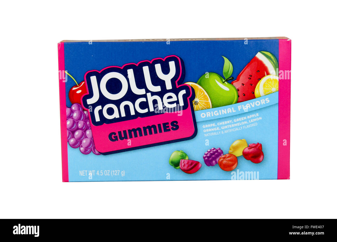 SPENCER , WISCONSIN, April,4, 2016    Box of Joly Rancher Gummies Candy   Jolly Rancher is a brand of sweet sour - Stock Image