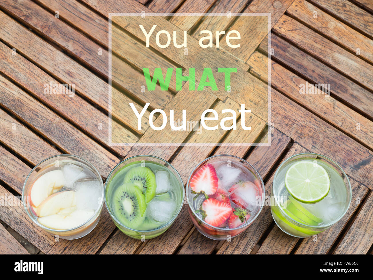 You Are What You Eat Quote Design Poster Stock Photo Stock Photo