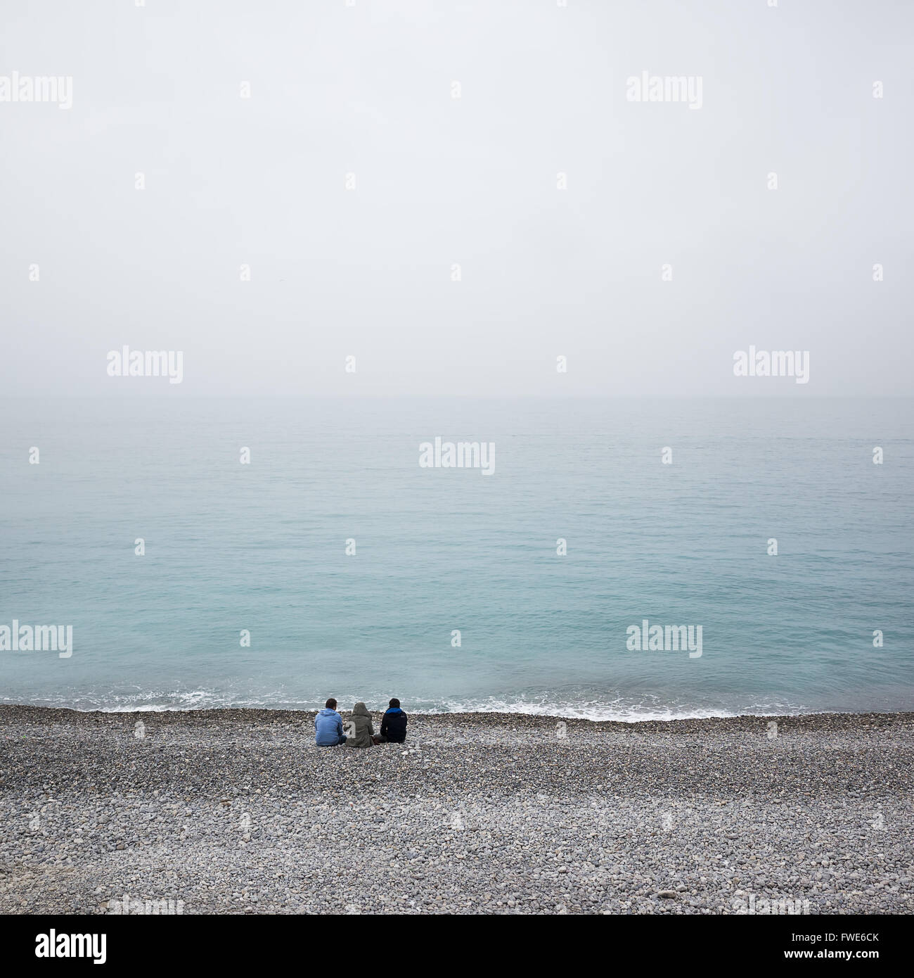 Winter day in Nice, France - Stock Image