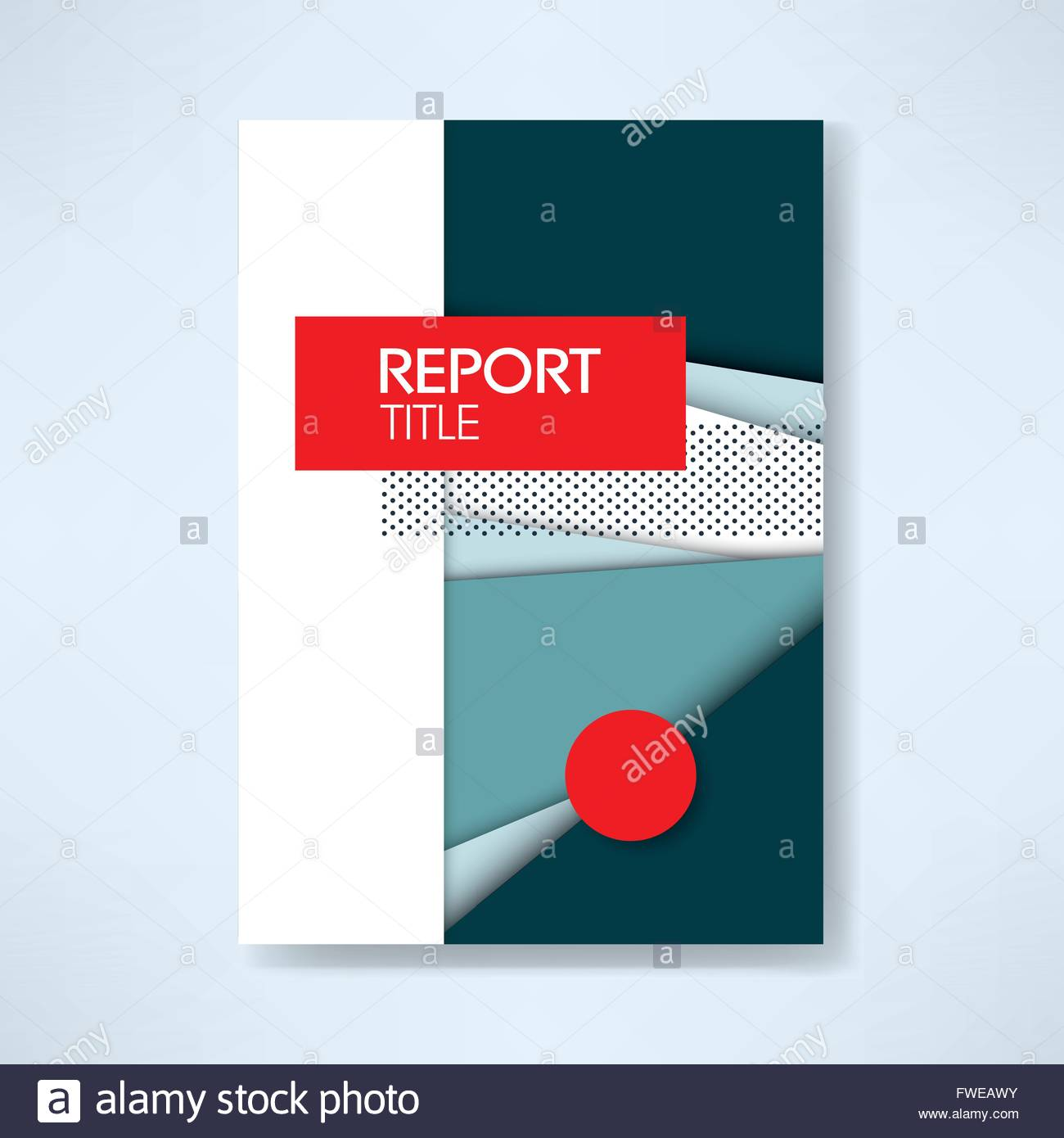 annual business report cover template with modern material design
