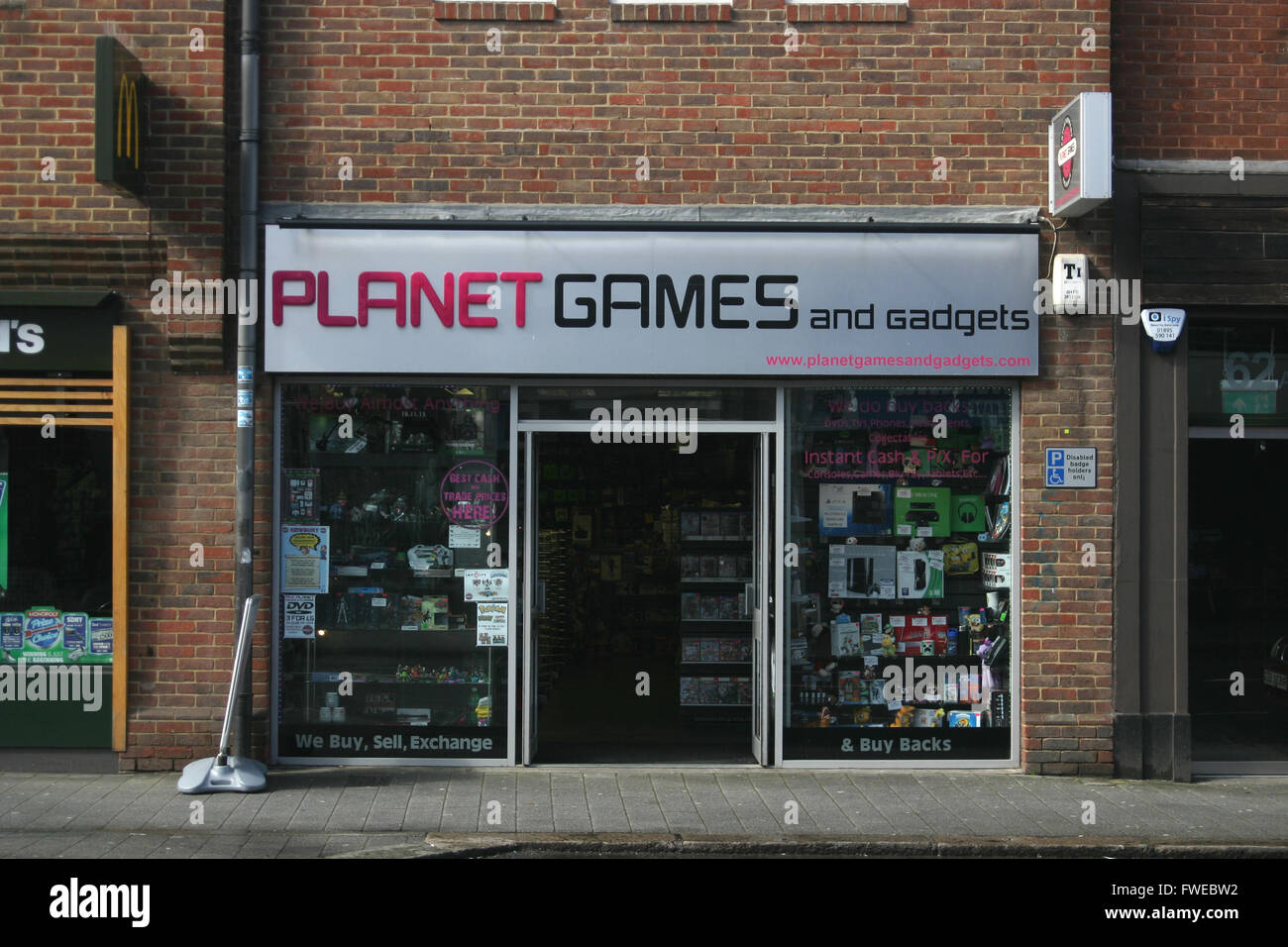 PLANET GAMES SHOP FRONT - Stock Image