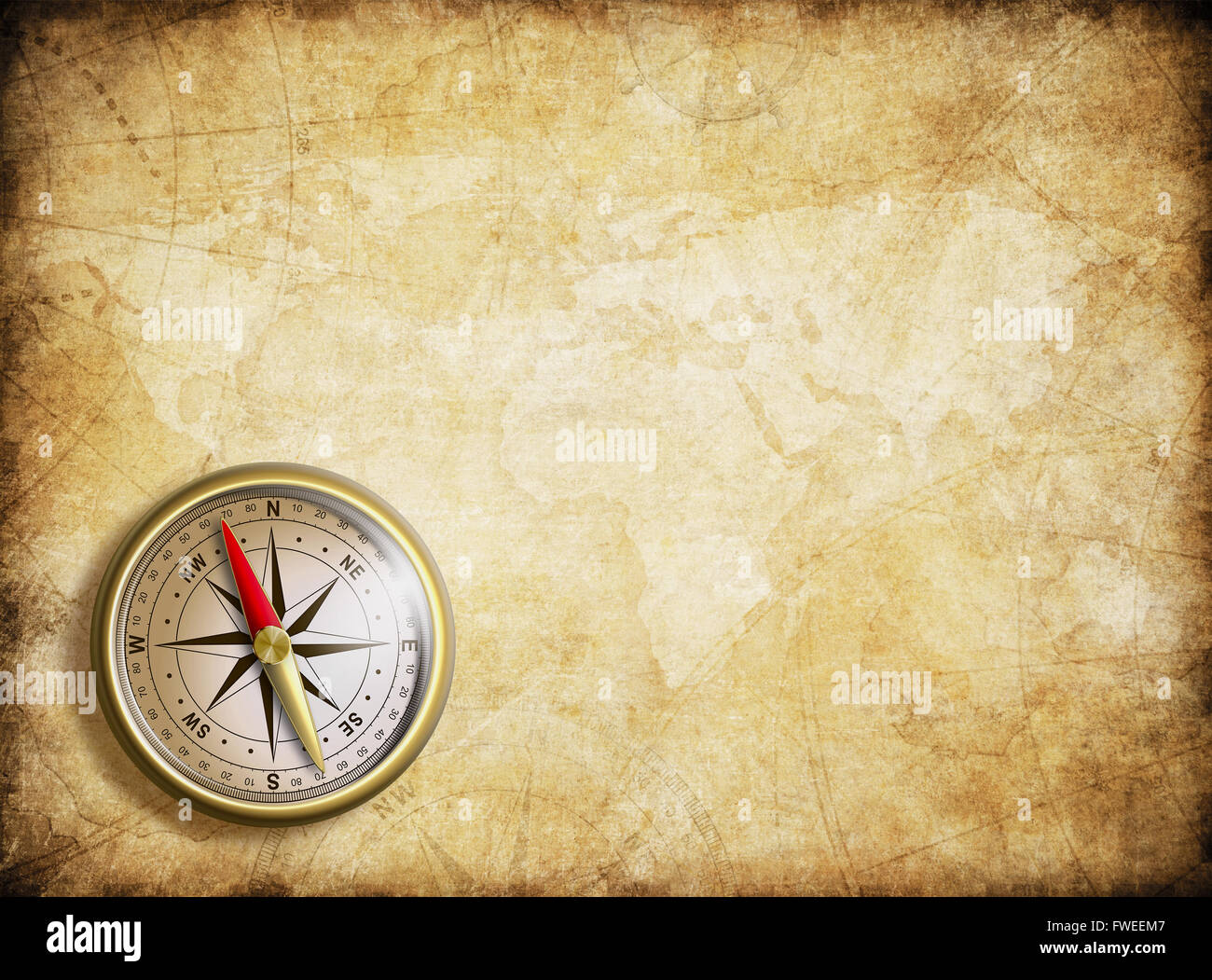 vintage map background with compass stock photo 101737111 alamy