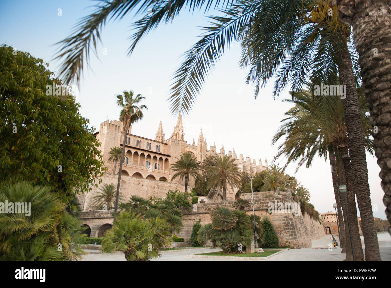 Cathedral La Seu, Palma de Mallorca, Mallorca, Balearic Islands, Spain - Stock Image