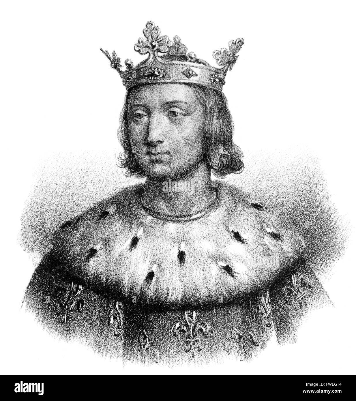Philip VI of Valois, Philipp VI., Philippe VI de Valois, 1293-1350, called the Fortunate or le Fortuné, first - Stock Image
