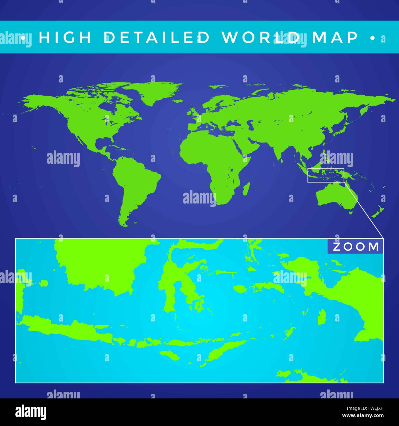 Vector flat style green color high detailed political world map vector flat style green color high detailed political world map illustration blue background gumiabroncs Images