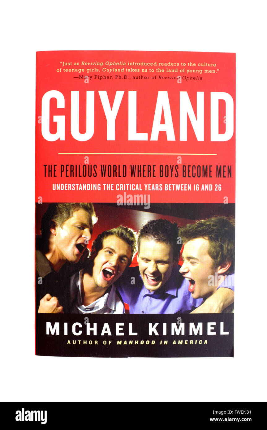 The front cover of Guyland by Michael Kimmel photographed against a white background. - Stock Image
