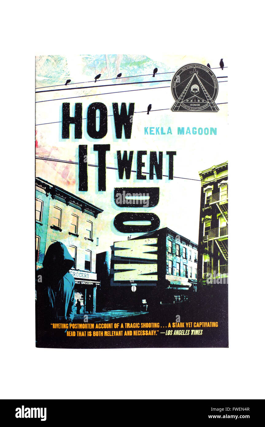 The front cover of How It Went Down by Kekla Magoon photographed against a white background. - Stock Image