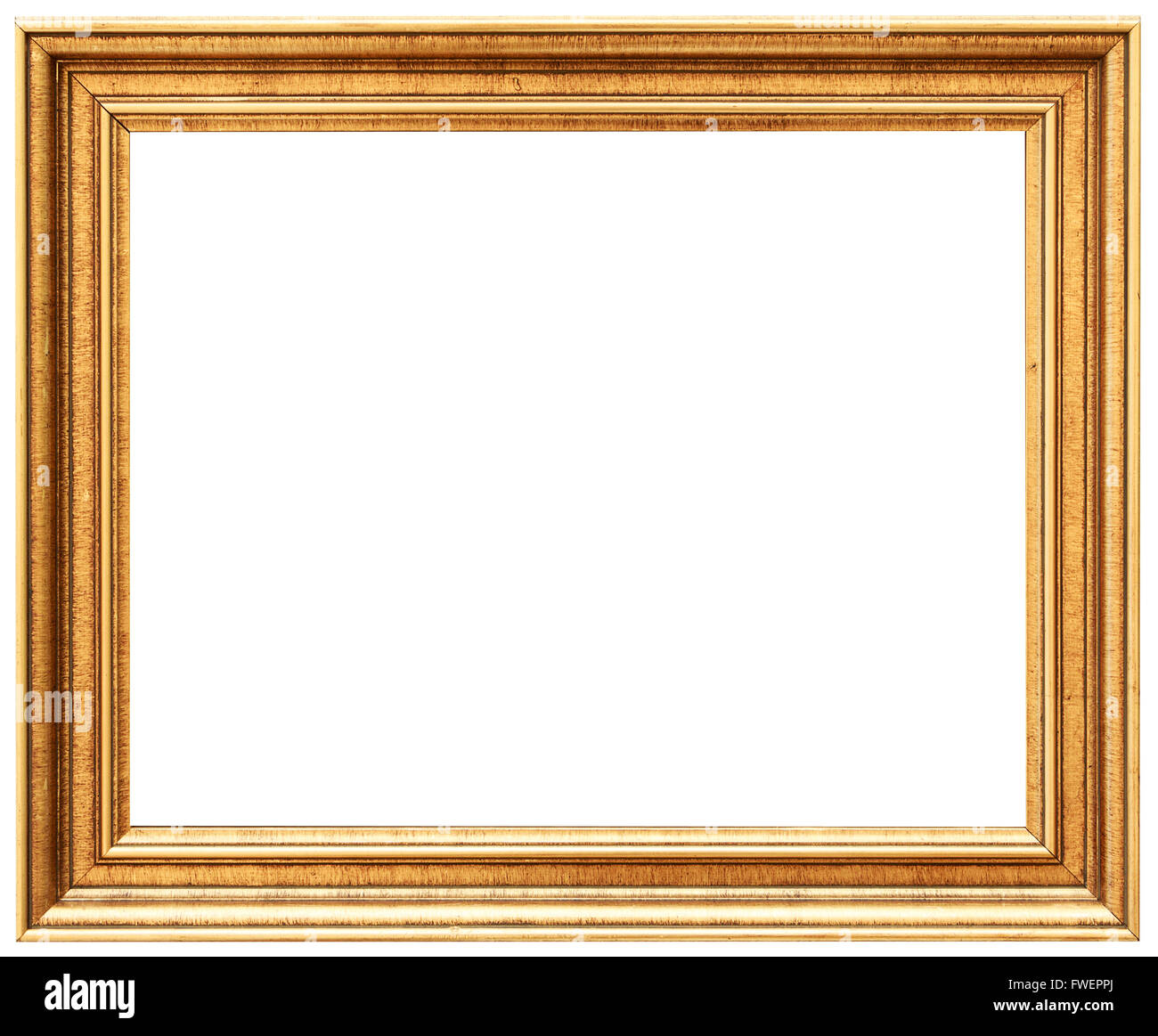 Golden Vintage Frame Isolated On White Gold Frame Louis Abstract