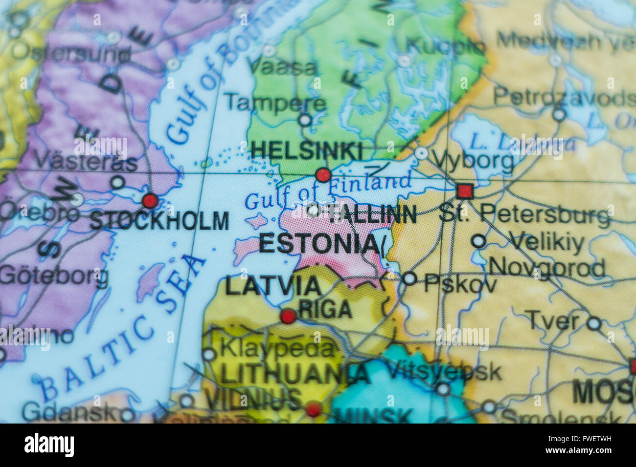 Tallinn Estonia City Map Stock Photos Tallinn Estonia City Map