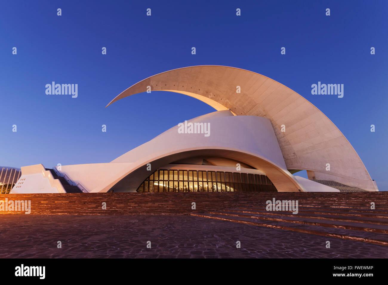 Auditorium by Santiago Calatrava, Santa Cruz, Tenerife, Canary Islands, Spain, Europe - Stock Image