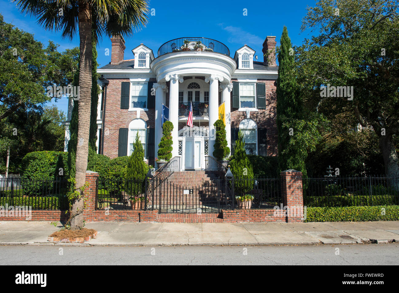 Colonial house in Charleston, South Carolina, United States of America, North America - Stock Image