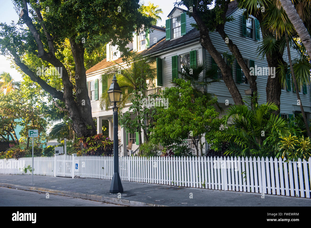 Colonial house in Key West, Florida, United States of America, North America - Stock Image