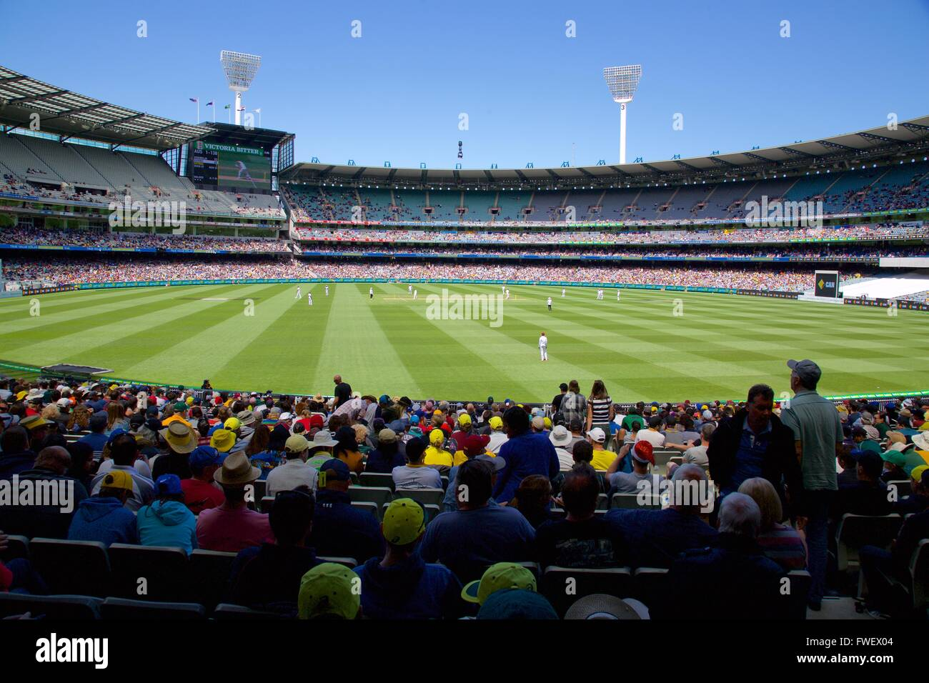 Melbourne Cricket Ground Test Match, Melbourne, Victoria, Australia, Oceania - Stock Image