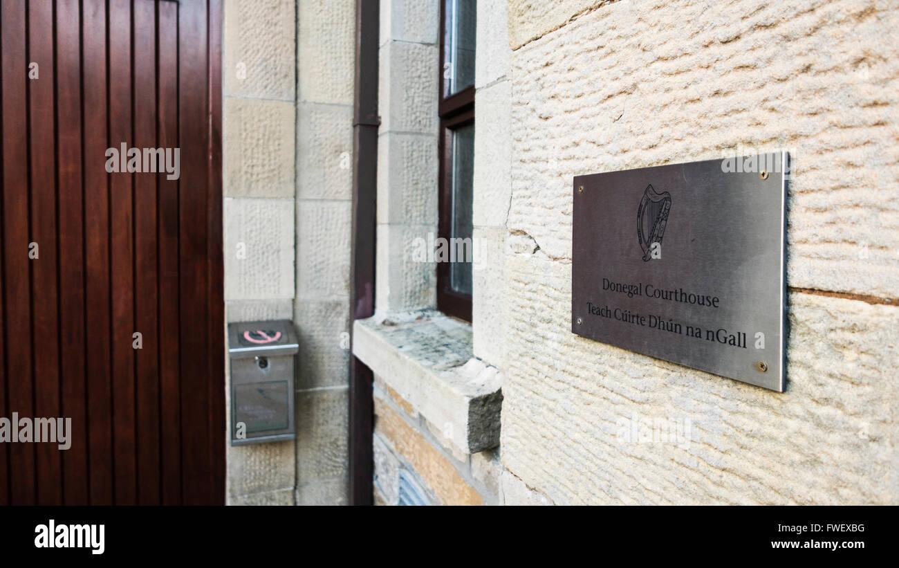 Donegal Courthouse, Ireland - Stock Image