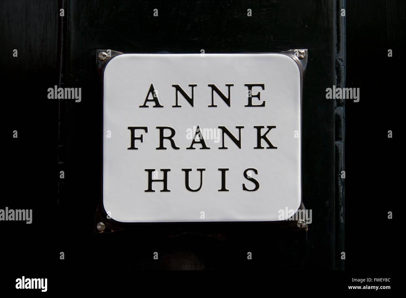 Anne Frank House, Amsterdam, Netherlands - Stock Image