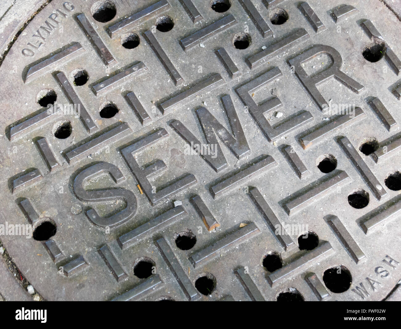 Sewer drain cover - Stock Image