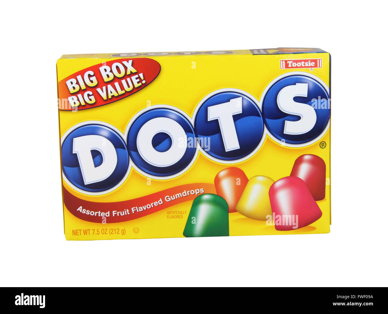 SPENCER , WISCONSIN, April,4, 2016    Box of Dots Gumdrop Candies,  Dots are a product of Tootsie Roll Industries - Stock Image