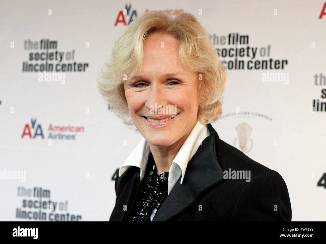 Glenn Close at the 36th Annual Film Society Gala Tribute honors Tom Hanks with the Charlie Chaplin Award (named - Stock Image