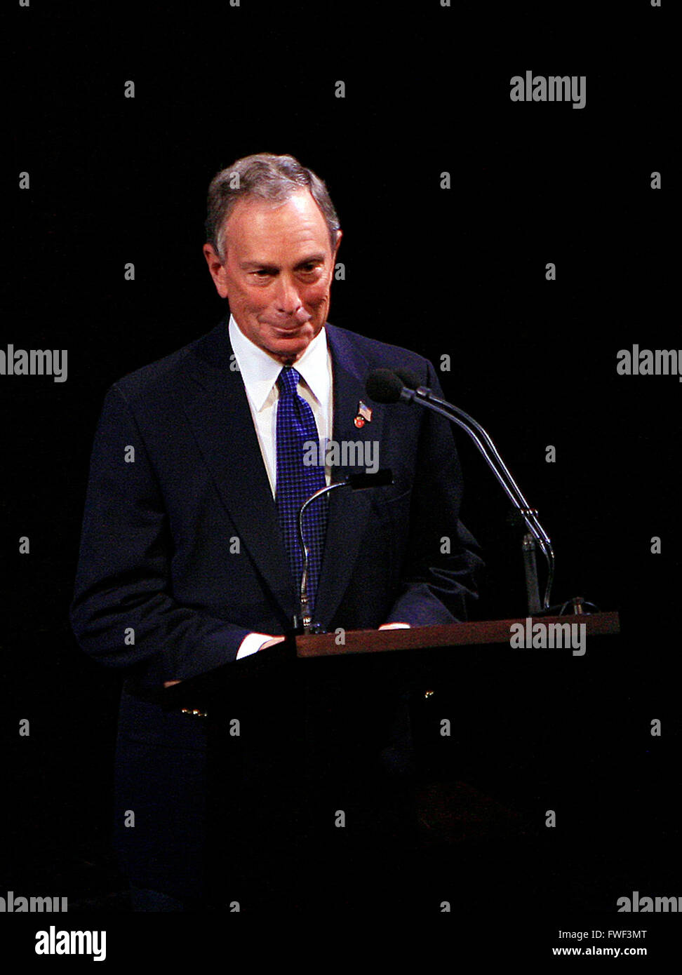 Mayor Michael Bloomberg at the special tribute to the late soprano Beverly Sills. Lincoln Center for the Performing - Stock Image