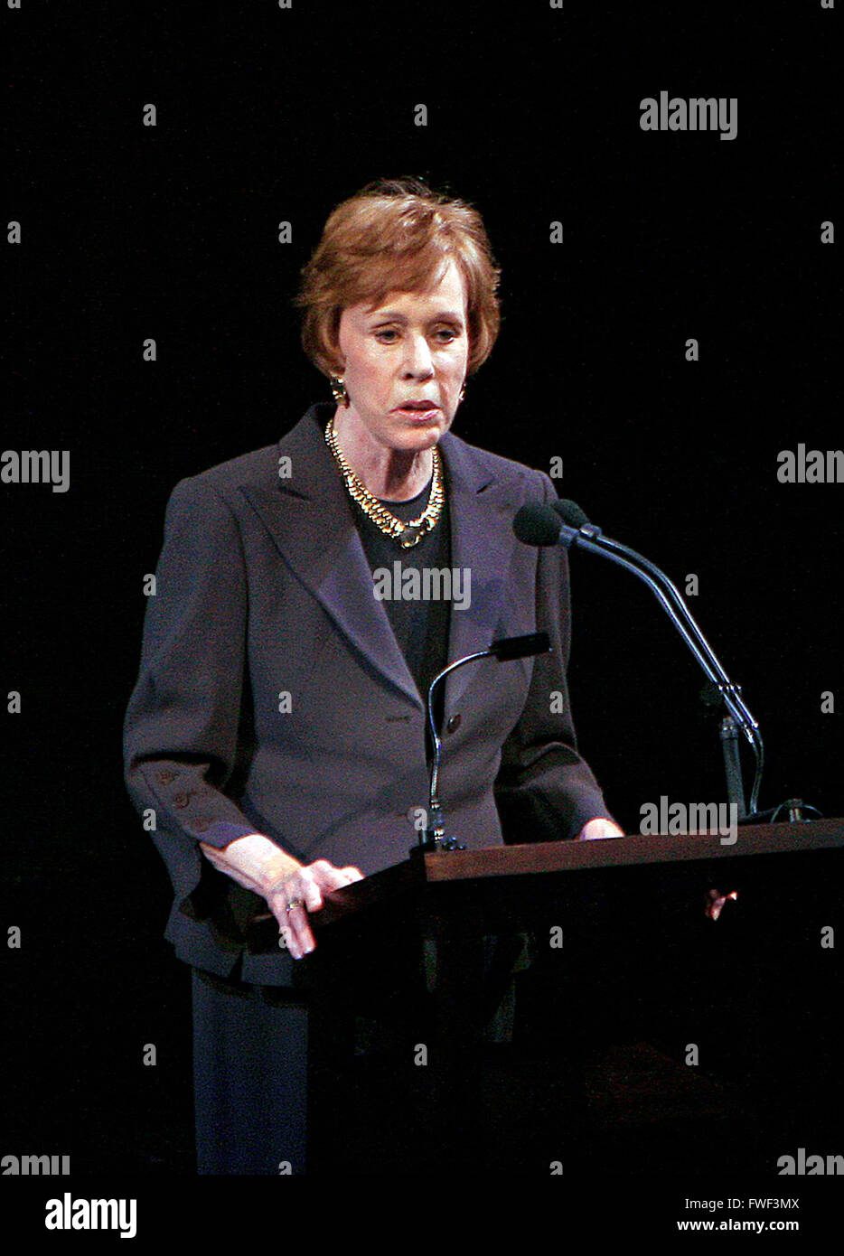 Carol Burnett at the special tribute to the late soprano Beverly Sills. Lincoln Center for the Performing Arts, - Stock Image