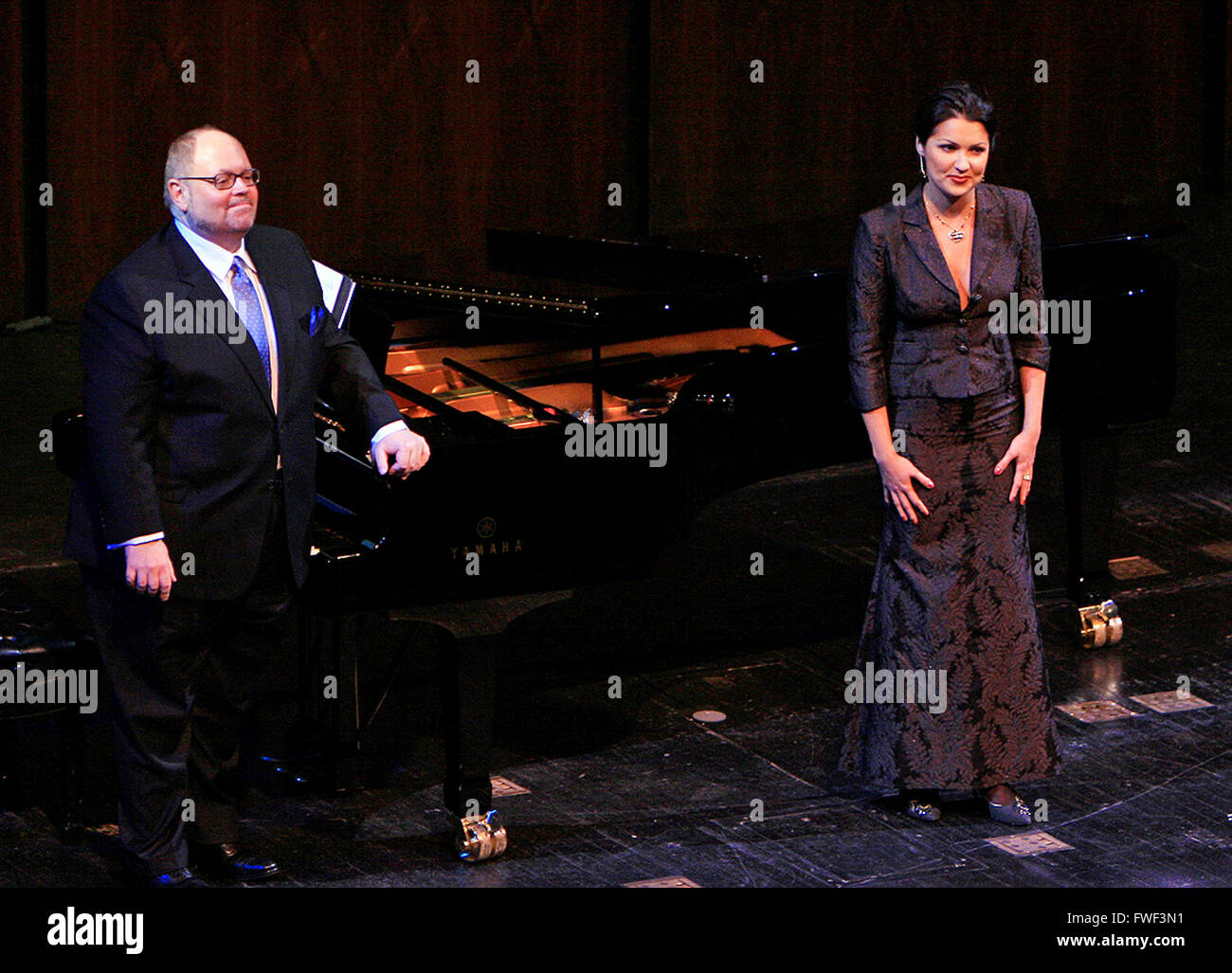 Anna Netrebko at the special tribute to the late soprano Beverly Sills. Lincoln Center for the Performing Arts, - Stock Image
