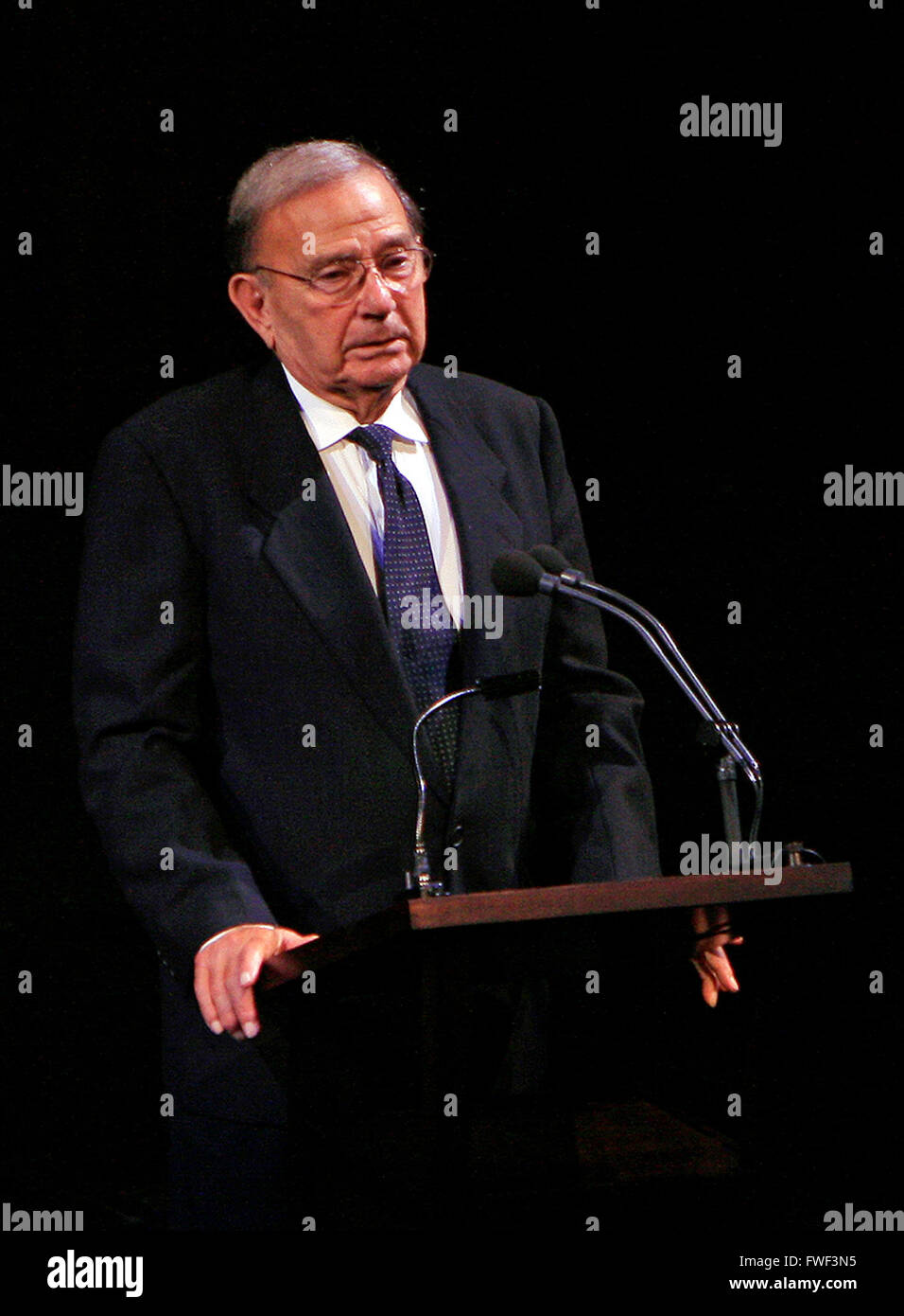 Beverly's brother Stanley Sills at the special tribute to the late soprano Beverly Sills. Lincoln Center for - Stock Image
