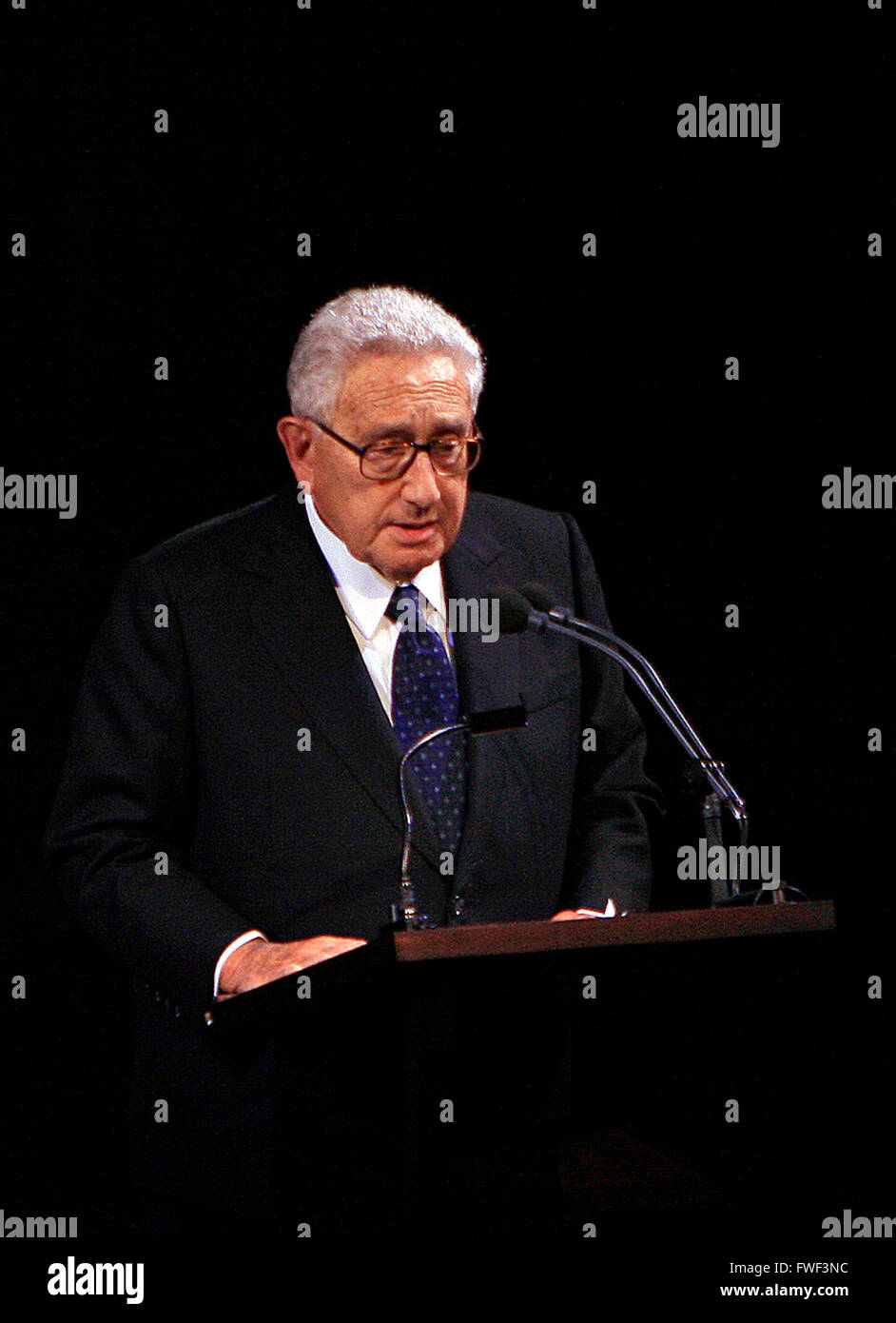 Former US Secretary of State Henry Kissinger at the special tribute to the late soprano Beverly Sills. Lincoln Center - Stock Image