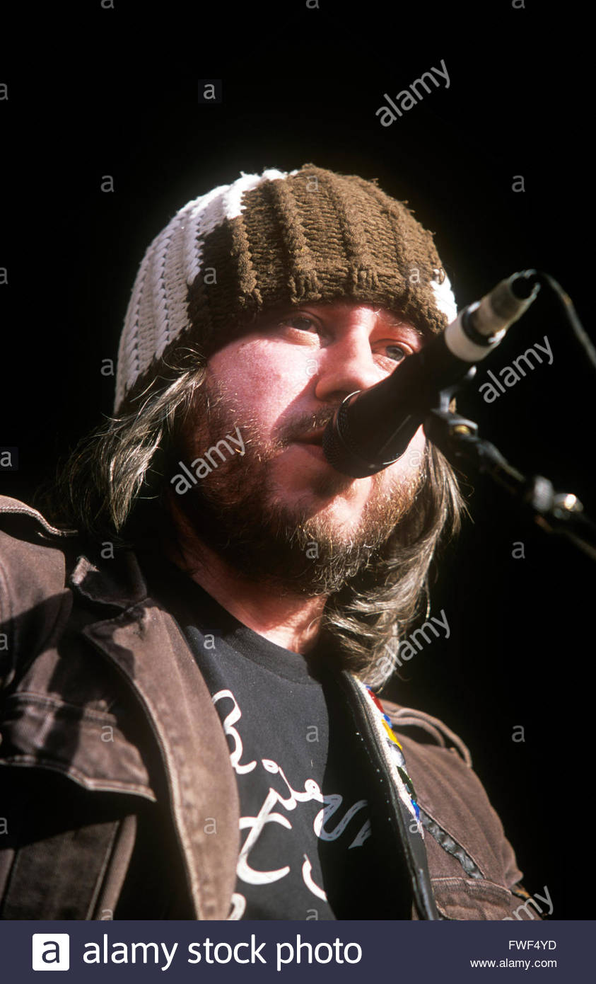 Badly Drawn Boy (Damon Gough) - English singer and songwriter performing at the Wychwood Festival, Cheltenham, Gloucestershire, - Stock Image