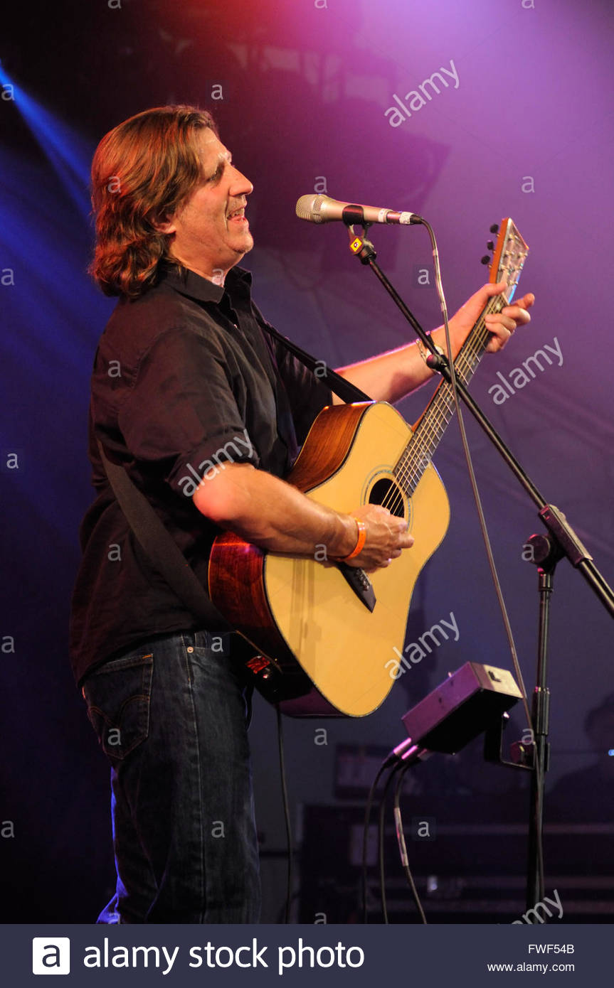 Steve Knightly of the UK folk due 'Show of Hands' performing at WOMAD (World Of Music And Dance), UK, 27 - Stock Image