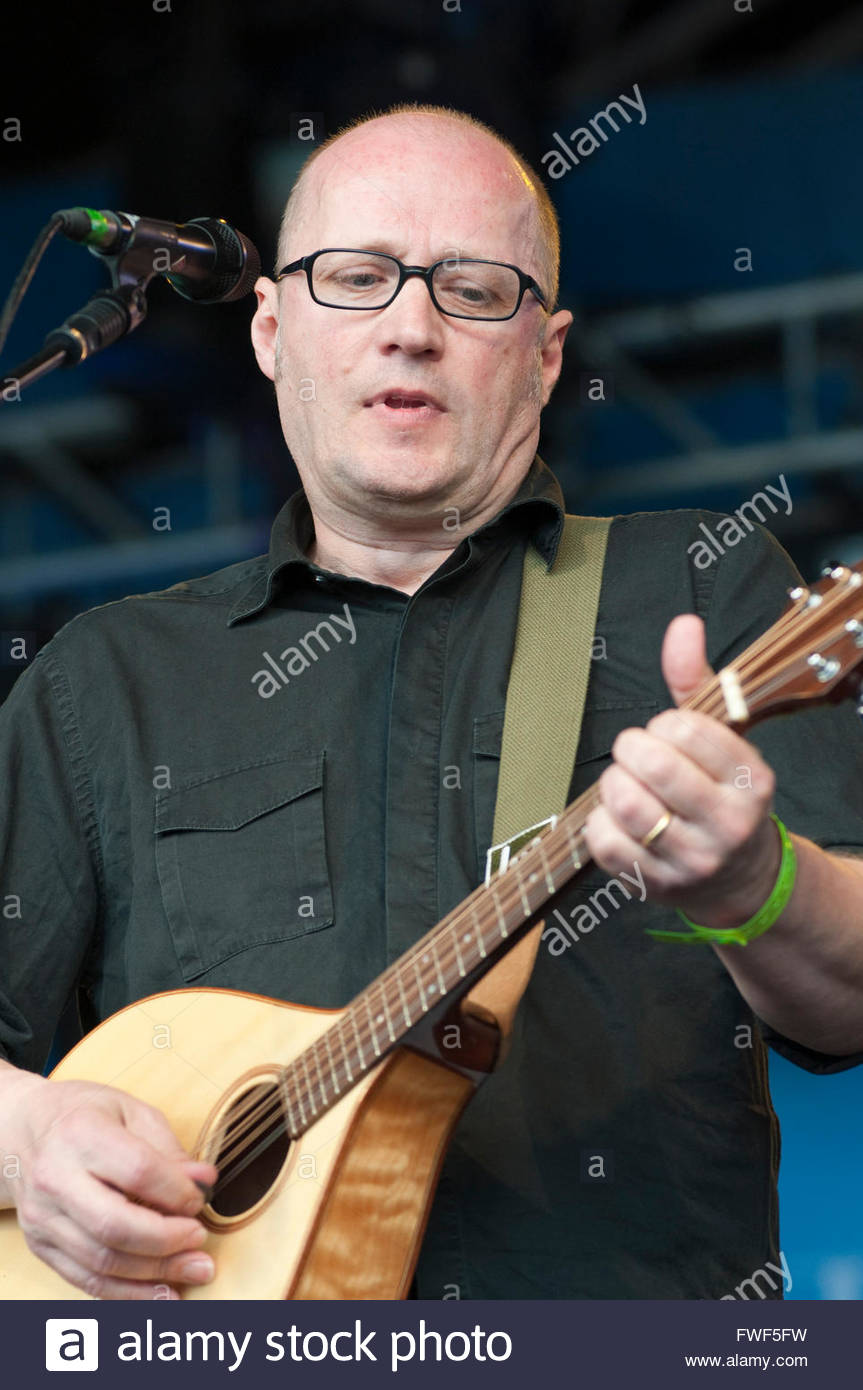 Adrian Edmondson, Comedian, director and musician performing at Wychwood Festival, Cheltenham Racecourse, Gloucestershire, - Stock Image