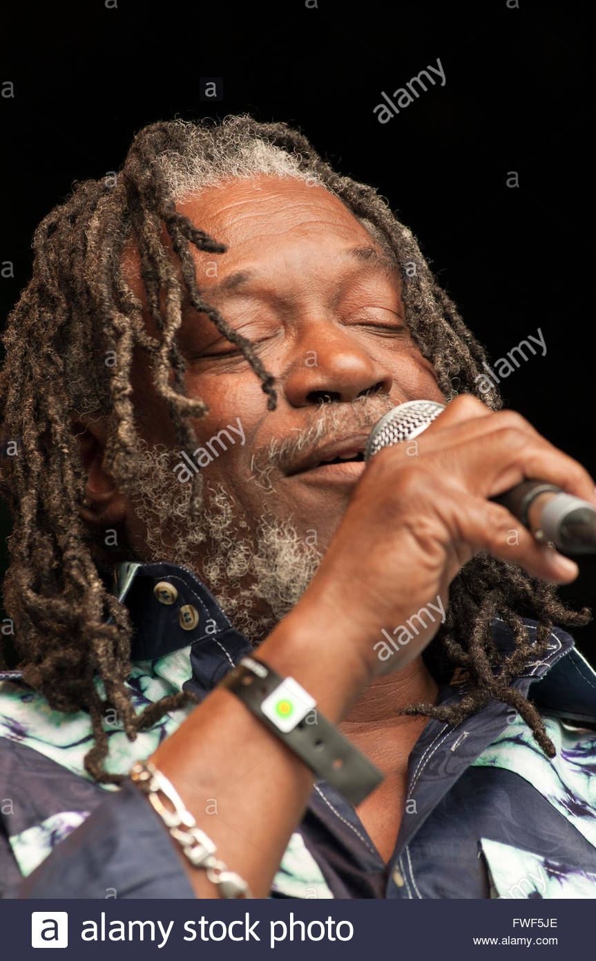 Horace Andy performing at the WOMAD Festival, UK, 23 July 2010. HA: Reggae musician, b. 19 February 1951 - - Stock Image