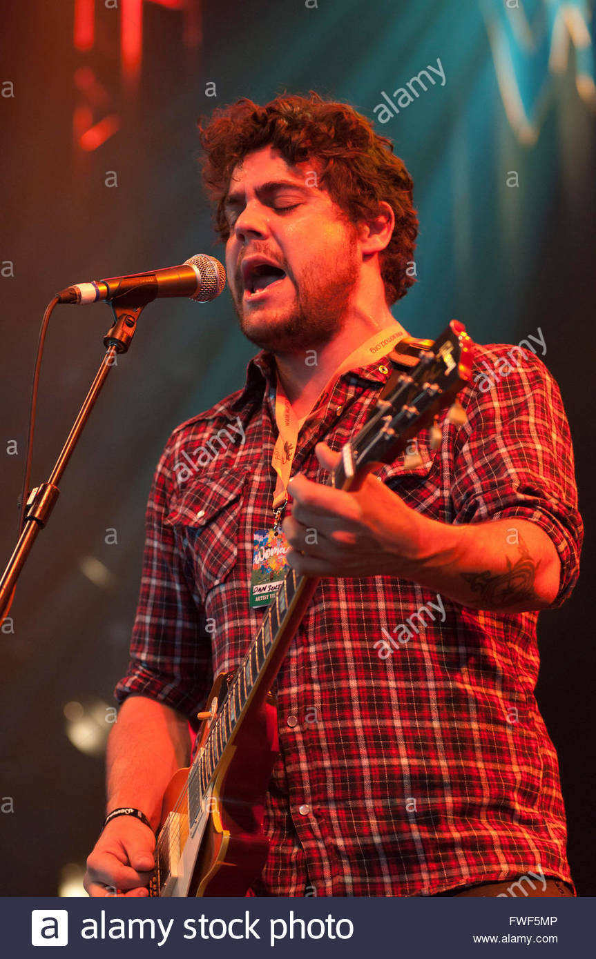 Dan Sultan performing at the WOMAD Festival, UK, 24 July 2010. - Stock Image