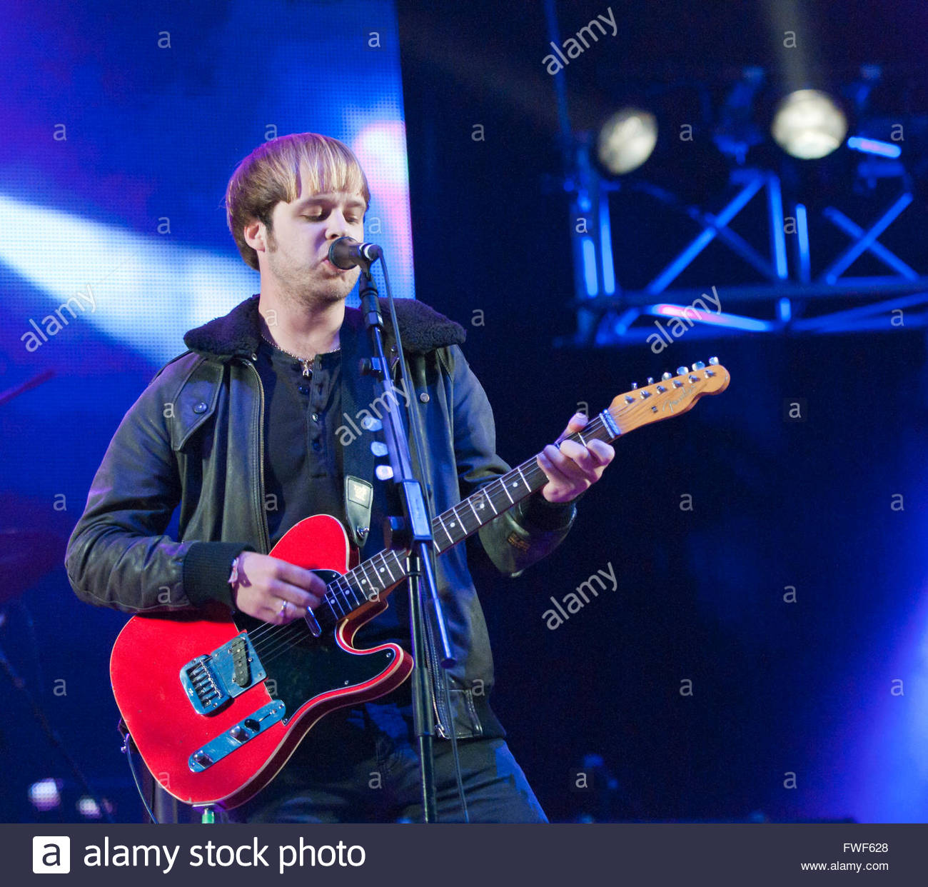 James Skelley of The Coral performing at Fairport's Cropredy festival, UK, 2011. - Stock Image
