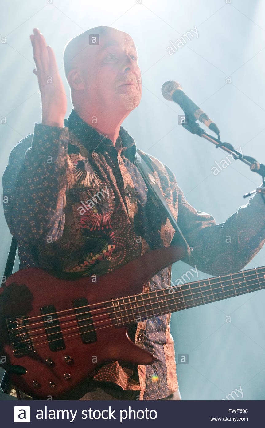 Dave Pegg (b. 2/11/47) of Fairport Convention performing at the Union Chapel, London, UK at the end of their 45th - Stock Image