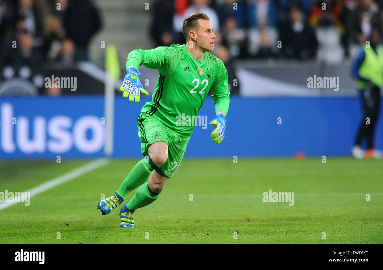 Friendly match at Allianz Arena Munich, Germany vs Italy: Marc-Andre ter Stegen (GER) - Stock Image